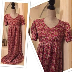 Dresses & Skirts - 1960s True Vintage Handmade Babydoll Maxi Dress M